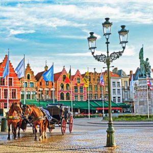Excursion d'une journée en autocars vers la Belgique (Bruges) La Venise Du Nord, au départ de Paris.
