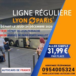 Départ Lyon Paris le Jeudi 24 Décembre 2020